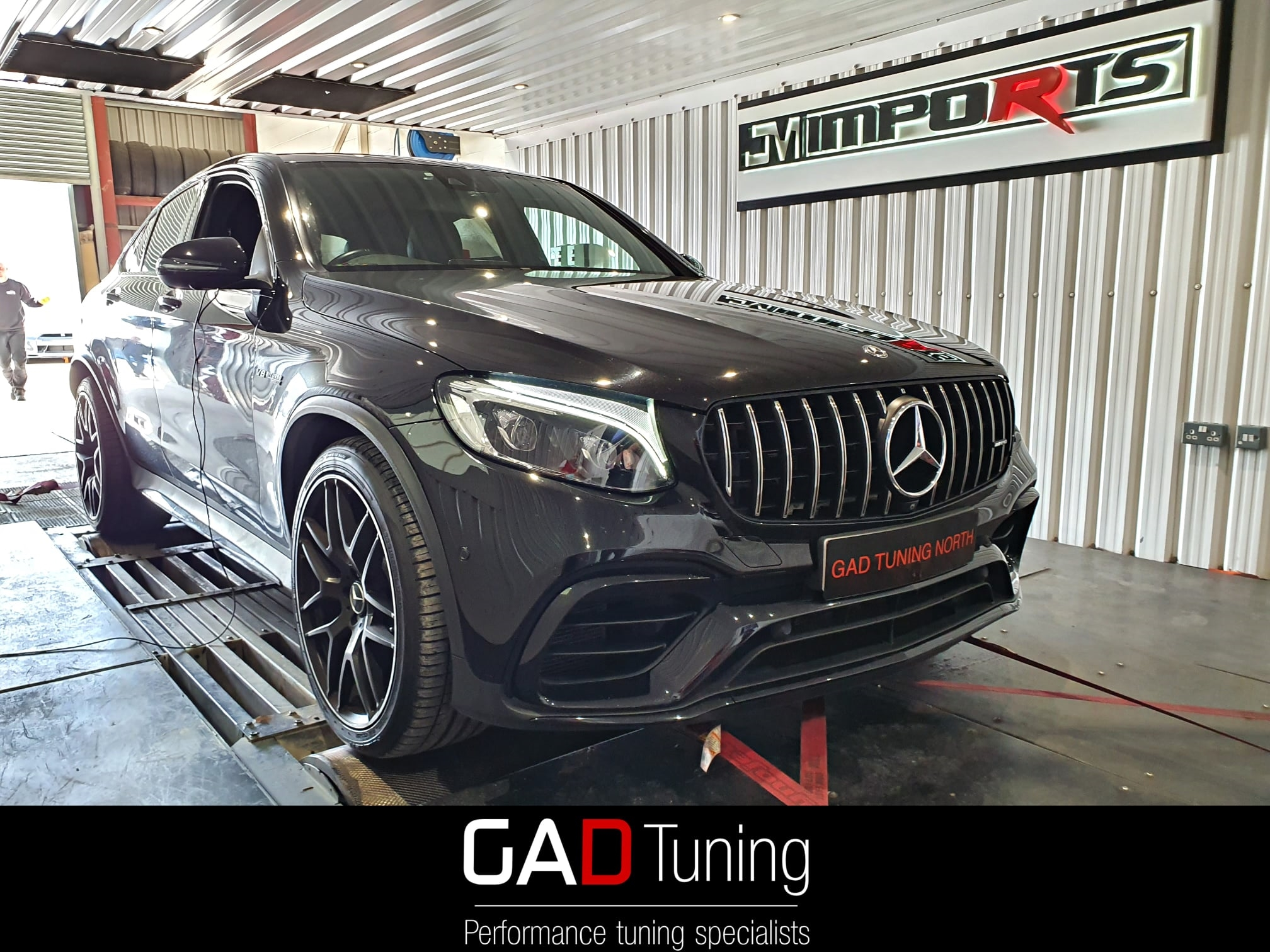 Mercedes GLC63 in for stage 1 & dyno