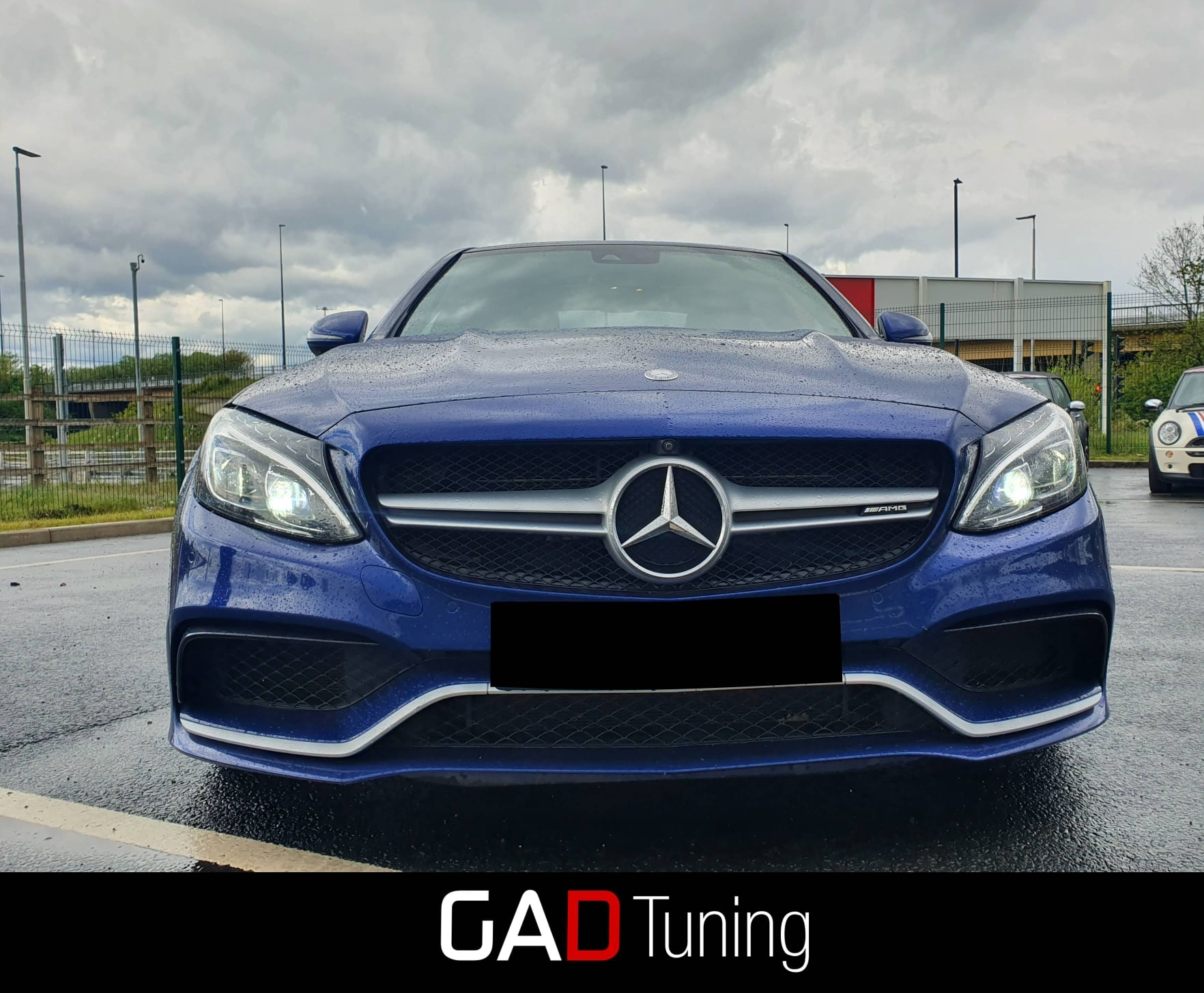 Mercedes C63 AMG in for stage 1 tune