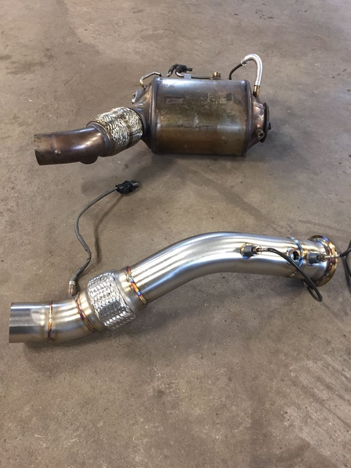 BMW f30 335d stage 2 package, wagner intercooler & custom downpipe